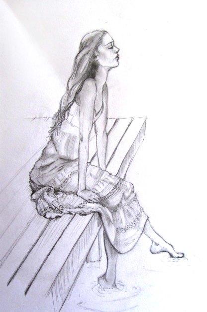 Portrait sketch. Pencil on paper.