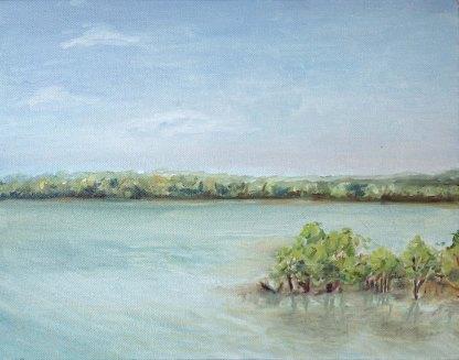 Darwin Creek. Oil on canvas