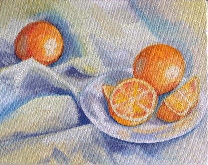 Oranges. Oil on Canvas