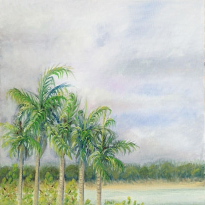 Palm Trees. Oil on canvas