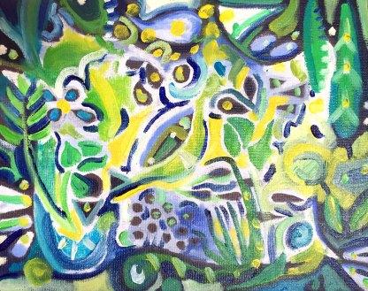 Tropics. Oil on canvas board.