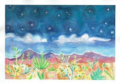 Kimberly Desert. Gouache on paper.